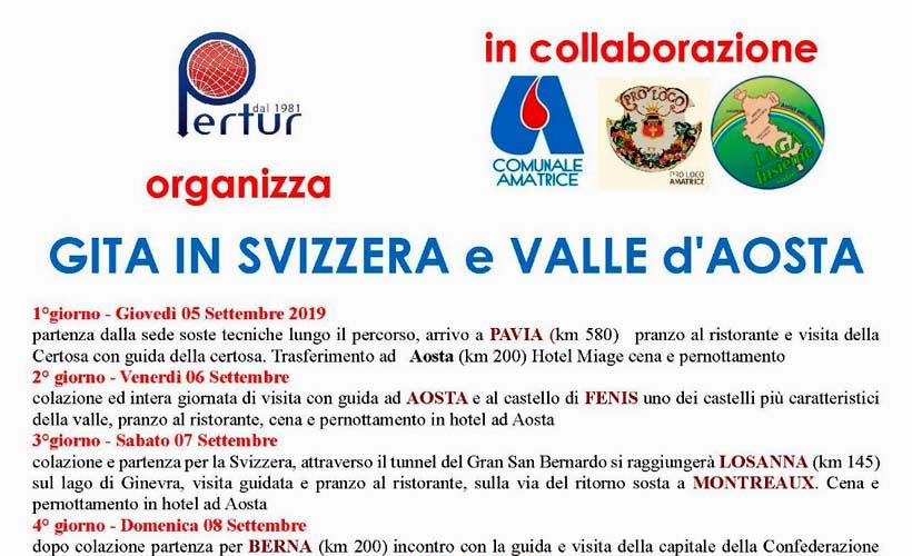 Gita in Svizzera e Valle d'Aosta 2019