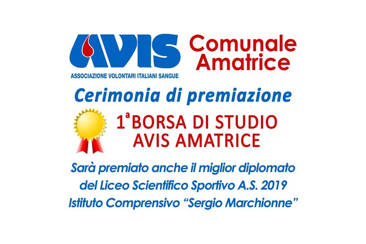 Premiazione I Borsa di Studio Avis Amatrice