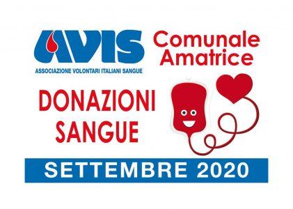Donazioni settembre 2020