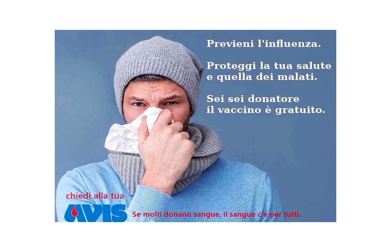 Influenza 2020-2021, vaccinazioni gratuite per i donatori