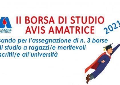 2^ Borsa di Studio Avis Amatrice
