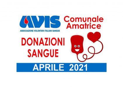 Donazioni aprile 2021