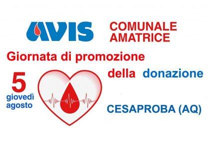 Promozione donazione a Cesabroba (AQ)