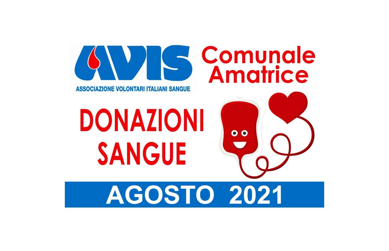Donazioni agosto 2021