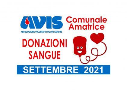 Donazioni settembre 2021