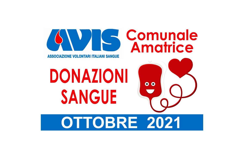 Donazioni ottobre 2021